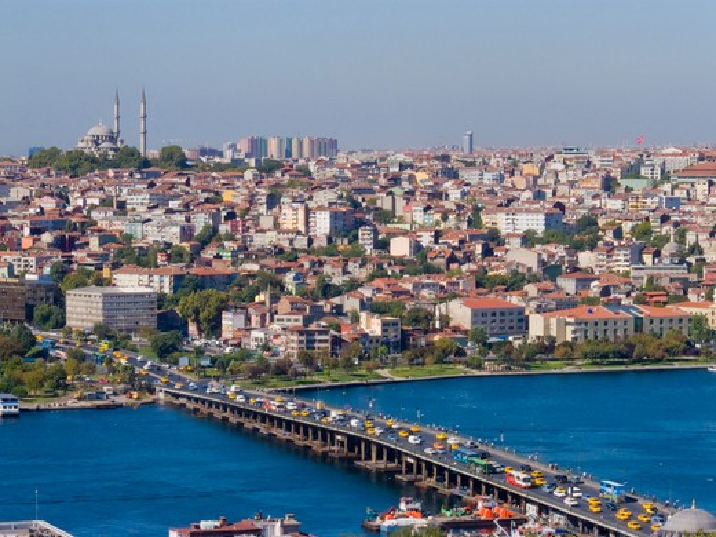 Turkey, Istanbul, Ataturk Bridge : Stock Photo