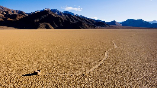 USA, California, Death Valley National Park, rolling rock : Stock Photo