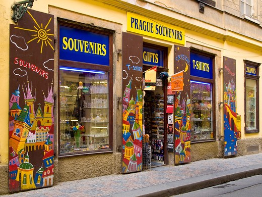 Stock Photo: 4292-46671 Czech Republic, Prague, souvernir shop