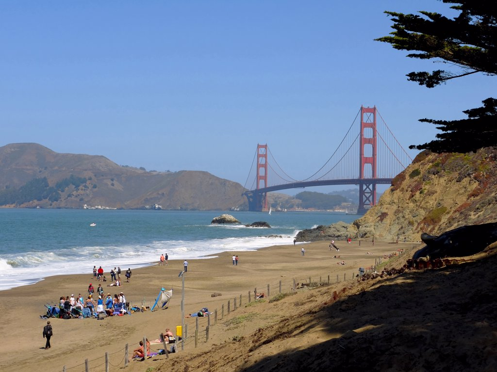 Stock Photo: 4292-46846 Usa, California, San Francisco, Golden Gate Bridge