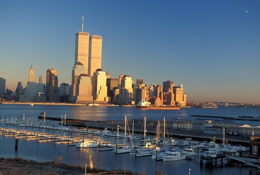 Stock Photo: 4292-47180 USA New York World financial before 9/11