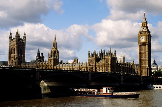 Stock Photo: 4292-47413 UK, England, London, Big Ben and the Parliament