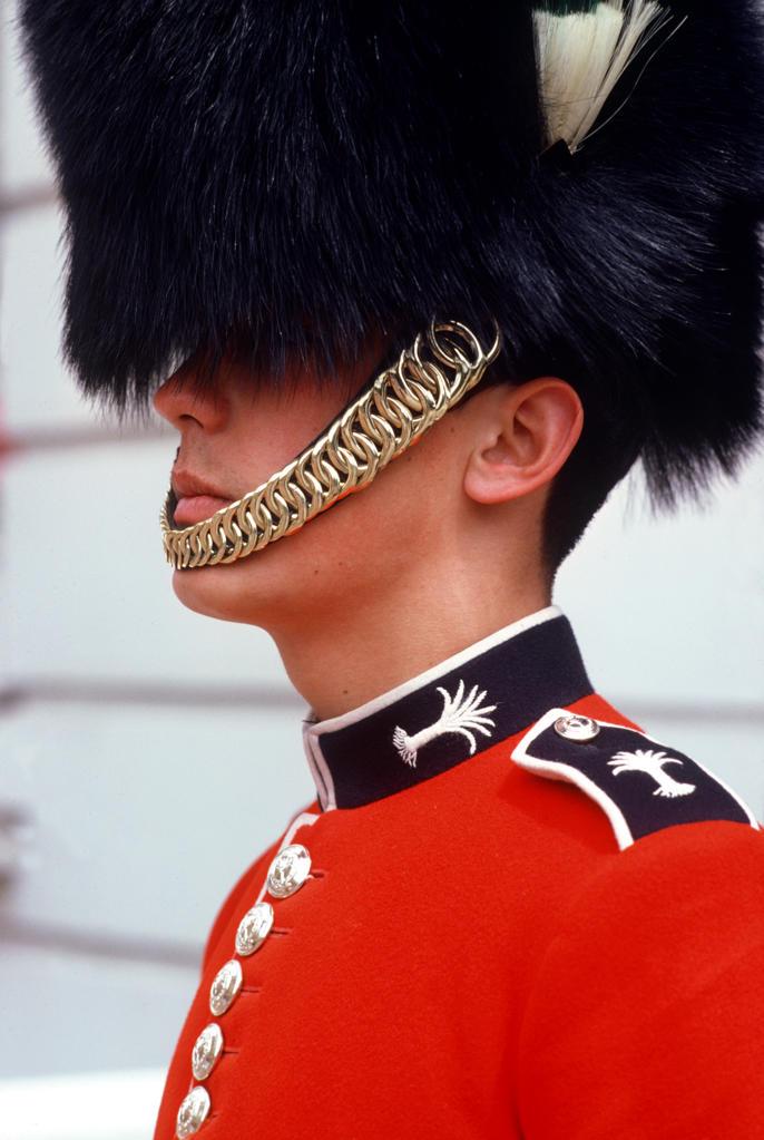 UK, London, Royal Guard at Buckingham Palace : Stock Photo