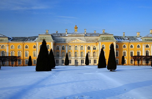 Russia, St. Petersburg, the Peterhof Palace : Stock Photo