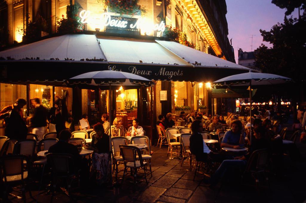 Stock Photo: 4292-47519 France, Île de France, Paris, restaurant Deux Magots