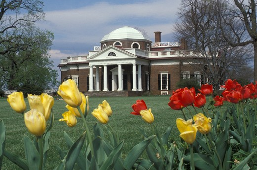 Stock Photo: 4292-47600 USA, Virginia, Monticello: Jefferson's house