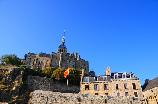 Stock Photo: 4292-4772 France, Normandy, Mont Saint Michel