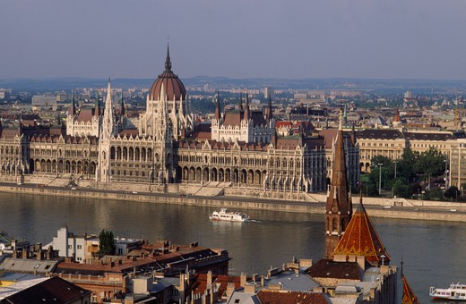 Europe, Hungary, Budapest, Parliament : Stock Photo