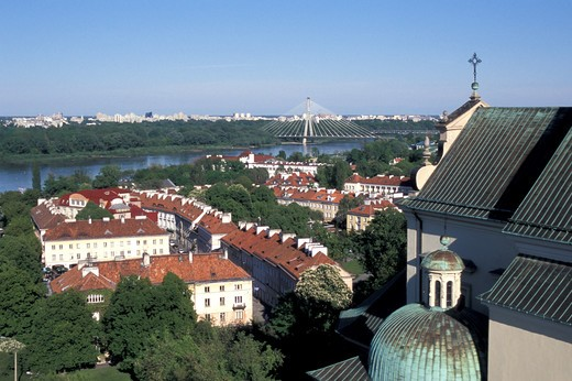 Stock Photo: 4292-48144 Poland,Warsaw, Swietokrzyski Bridge on Vistula river