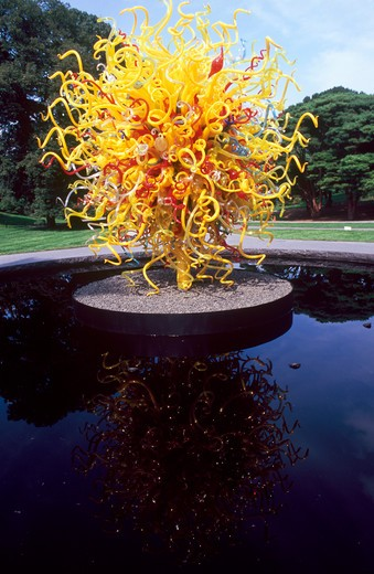 USA, New York, Chihuly at The New York Botanical Garden : Stock Photo