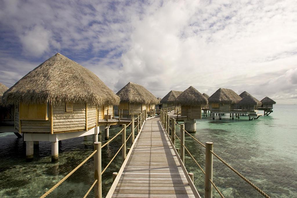French Polynesia, Bora Bora. Tikehau Pearl Beach Resort : Stock Photo