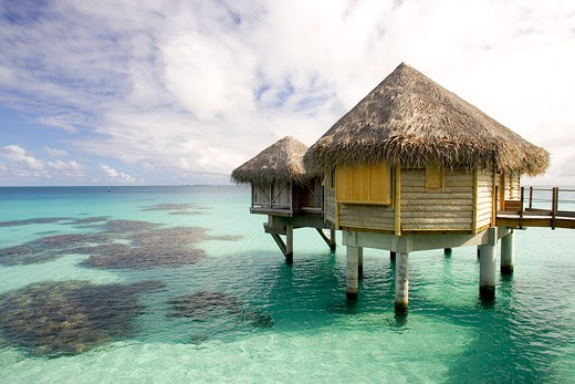 French Polynesia, Bora Bora. Tikehau Pearl Beach Resort : Stock Photo