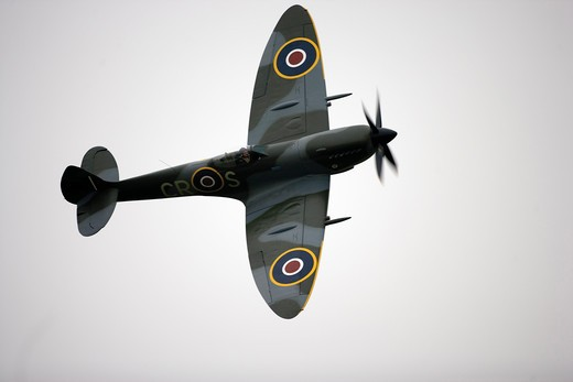 Stock Photo: 4292-50634 Spitfire fighter plane, World War II