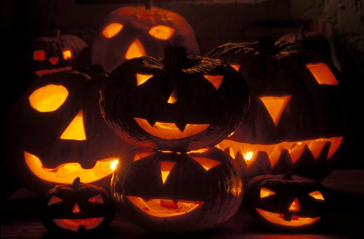 Stock Photo: 4292-51848 Halloween pumpkins