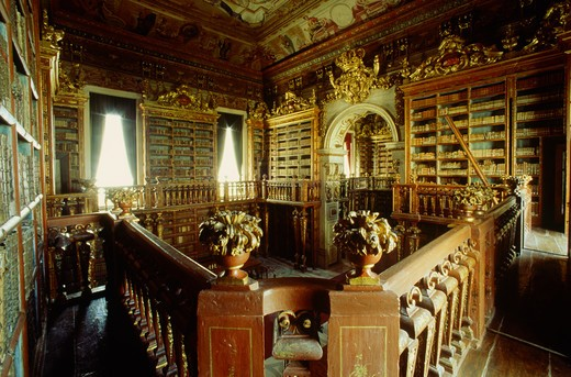 Stock Photo: 4292-52515 Portugal, Coimbra, Coimbra University, library