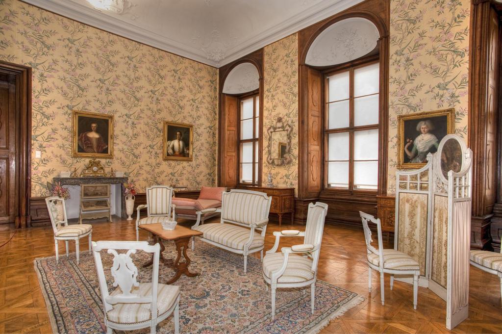 Austria, Waldviertel, interiors of Riegersburg castle : Stock Photo