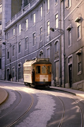 Portugal, Lisbon, tram : Stock Photo