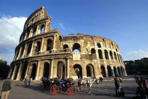 Italy, Lazio, Rome, The Colosseum : Stock Photo