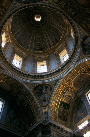 Stock Photo: 4292-57832 Italy, Lazio, Rome, Santa Maria Maggiore church: the dome of Cappella Sistina del SS.Sacramento