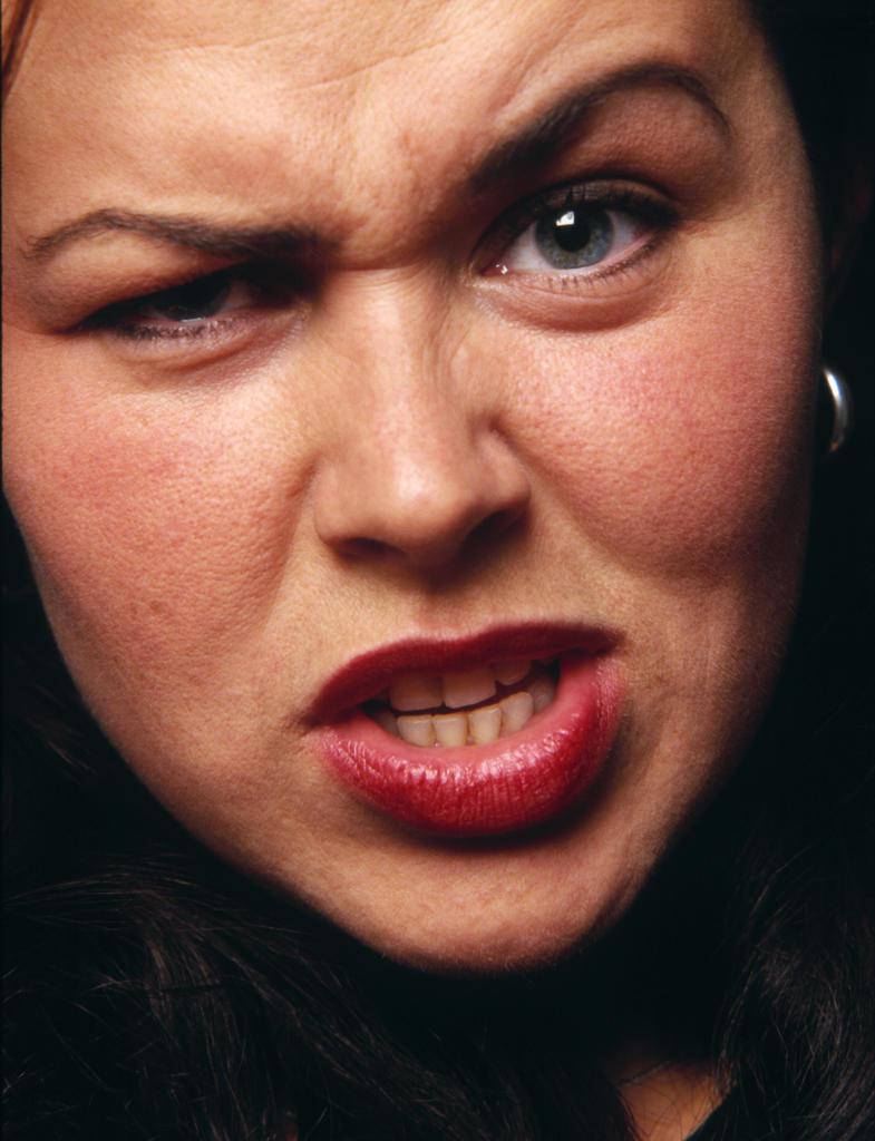 Angry woman : Stock Photo
