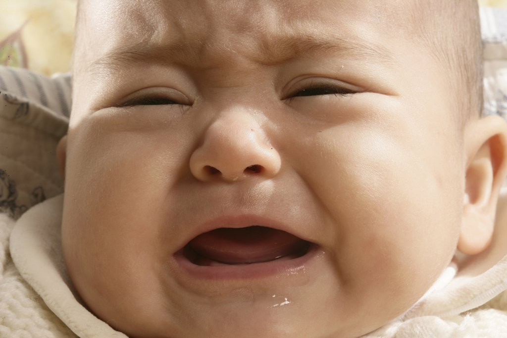 Baby crying : Stock Photo