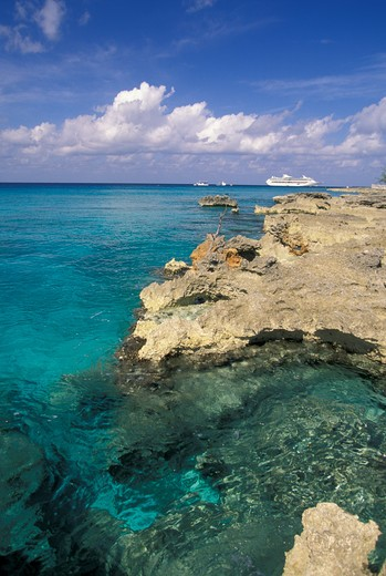 Stock Photo: 4292-61076 Grand Cayman, the coast near George Town.
