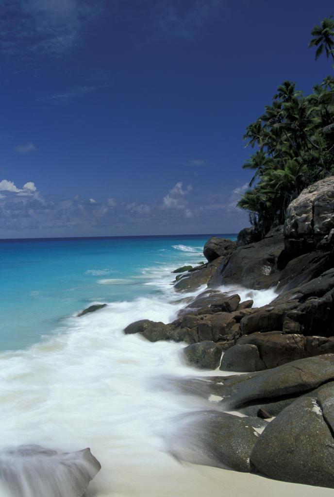 Seychelles, Fregate island. Anse Victorin : Stock Photo