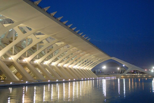 Stock Photo: 4292-62749 Spain, Valencia, City of Arts and Sciences: the museum of sciences Principe Filipe