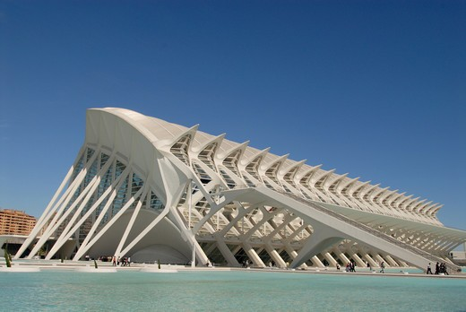 Stock Photo: 4292-62760 Spain, Valencia, City of Arts and Sciences: the museum of sciences Principe Filipe