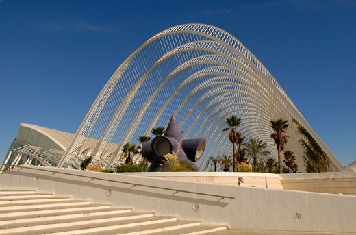 Stock Photo: 4292-62761 Spain, Valencia, City of Arts and science: the umbracle