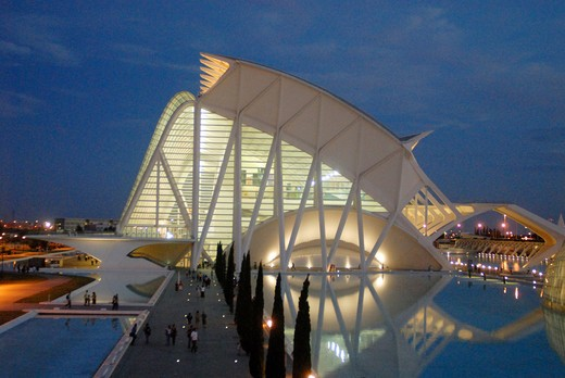 Stock Photo: 4292-62764 Spain, Valencia, City of Arts and Sciences: the museum of sciences Principe Filipe
