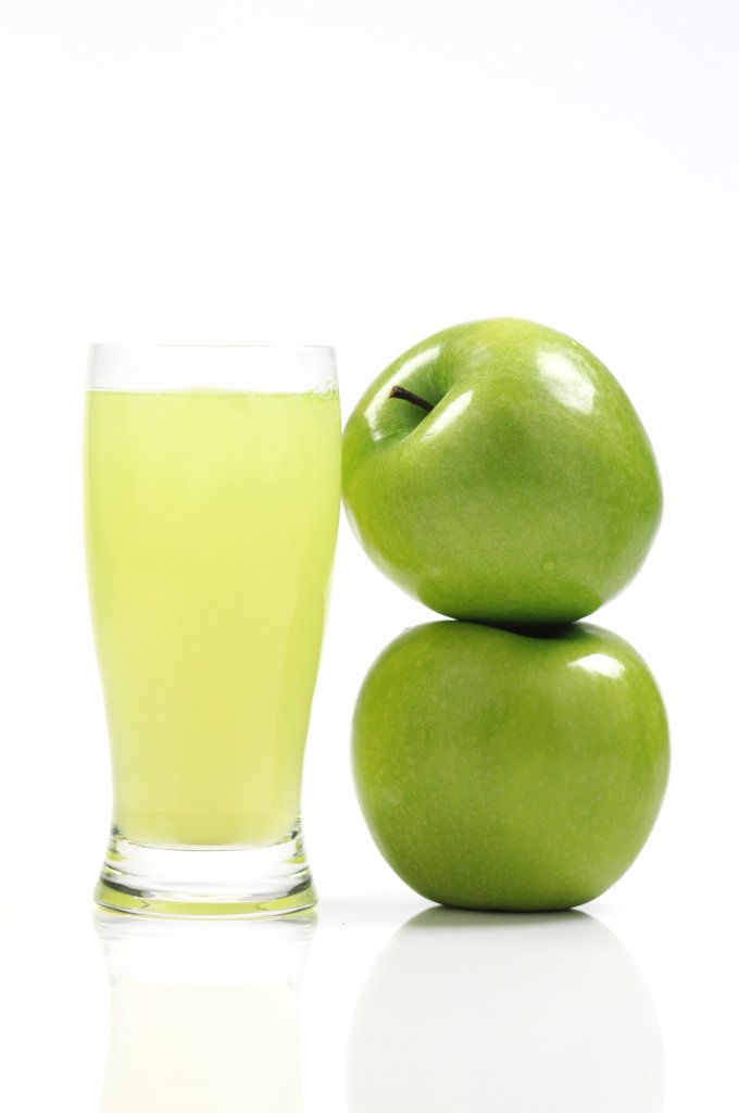 Glass of apple juice : Stock Photo