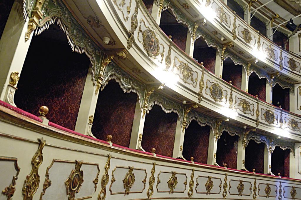 Stock Photo: 4292-63669 Italy, Emilia Romagna, Busseto, the interior of the Verdi theater