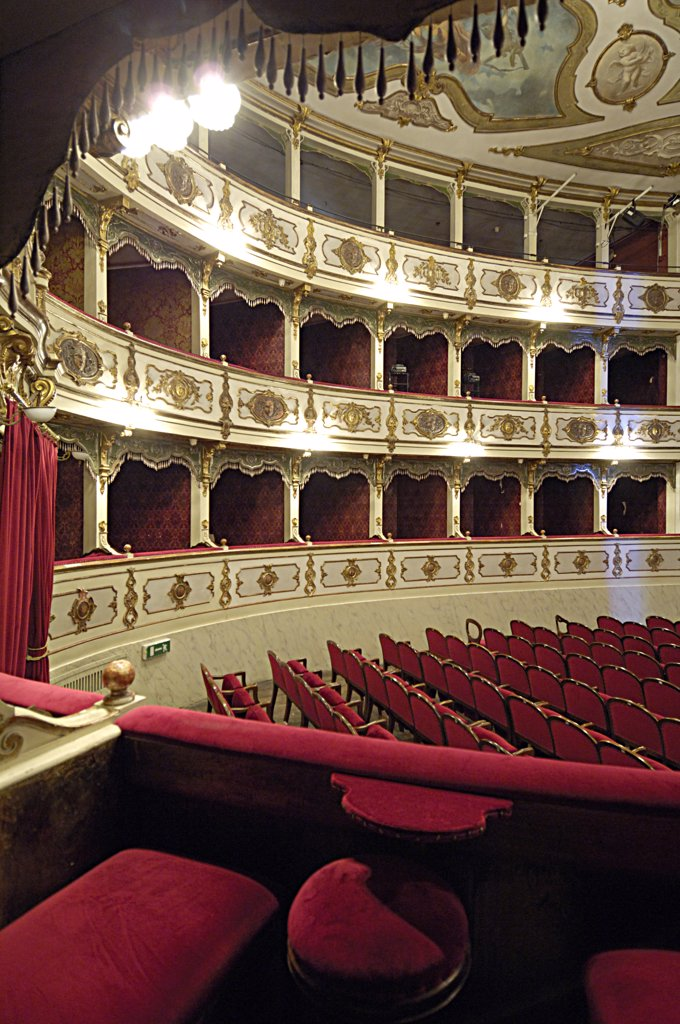 Stock Photo: 4292-63671 Italy, Emilia Romagna, Busseto, the interior of the Verdi theater