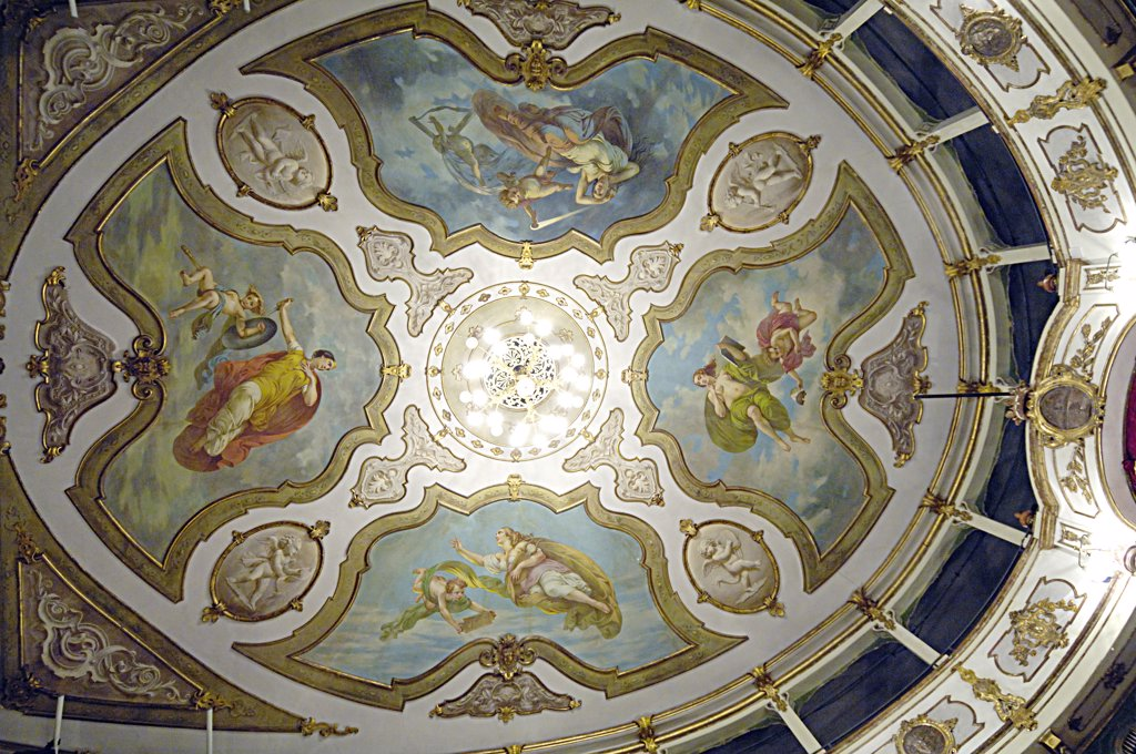 Stock Photo: 4292-63672 Italy, Emilia Romagna, Busseto, the ceiling of the Verdi theater