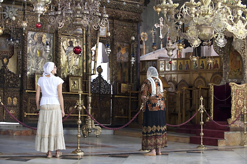 Stock Photo: 4292-64299 Israel, West Bank, Bethleem, interior of the Church Of The Nativity