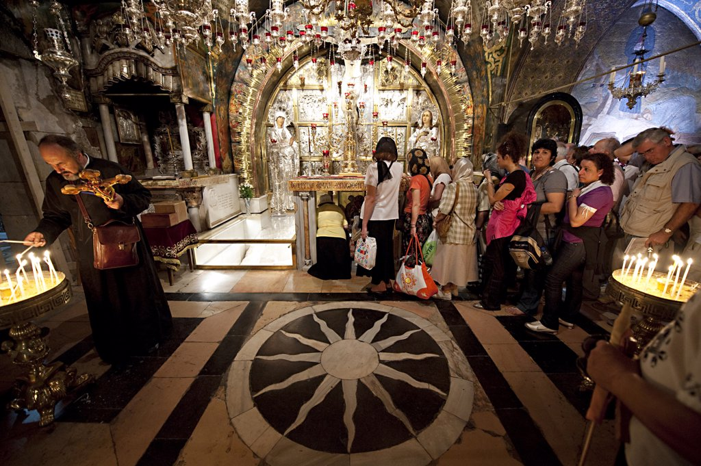 Stock Photo: 4292-64328 Israel, Jerusalem, Church Of The Holy Sepulchre