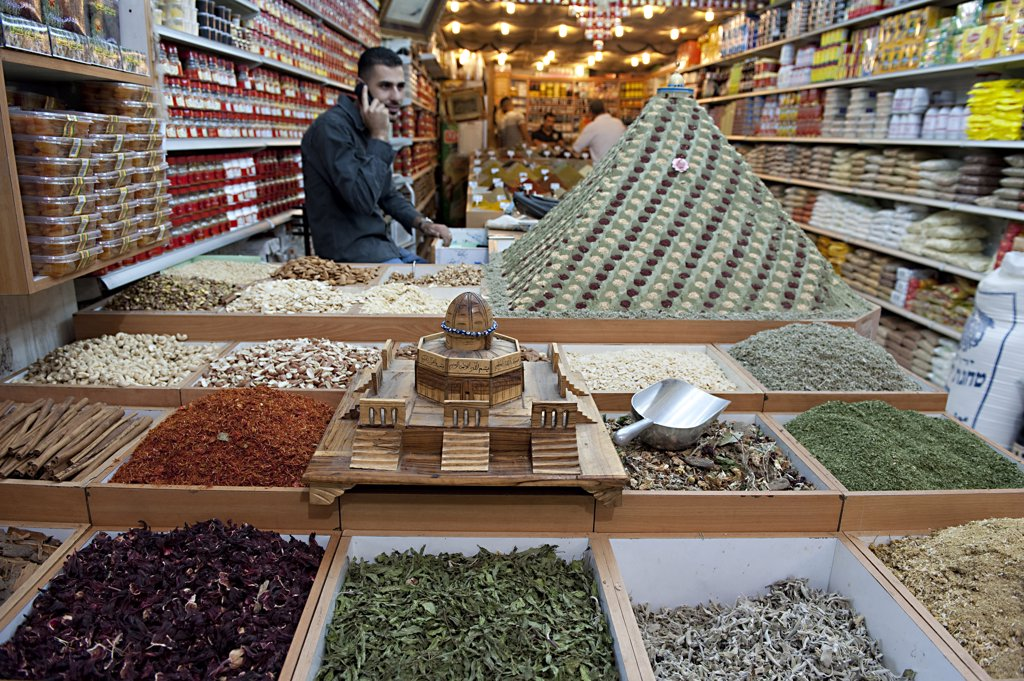 Israel, Jerusalem, muslim quarter souk : Stock Photo
