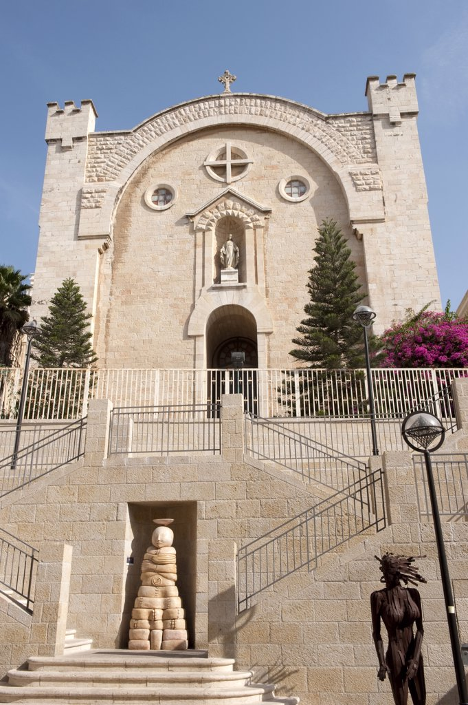 Stock Photo: 4292-64487 Israel, Jerusalem, church in Mamilla District