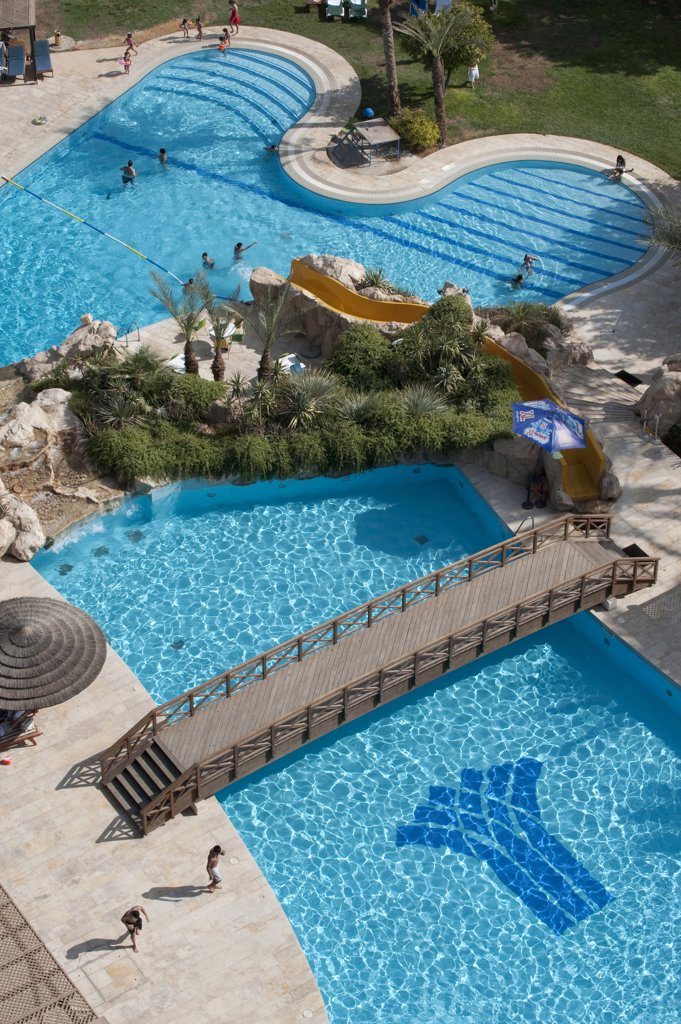 Stock Photo: 4292-64568 Israel, West Bank, Jericho, Intercontinental hotel swimming pool