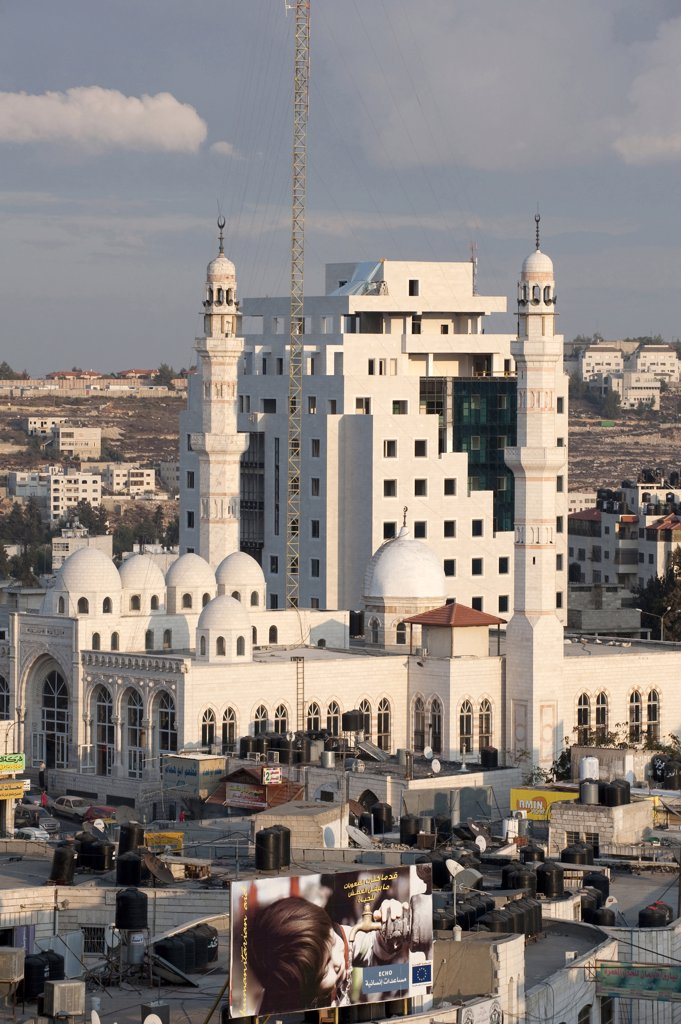 Israel, West Bank, Ramallah, the mosque : Stock Photo