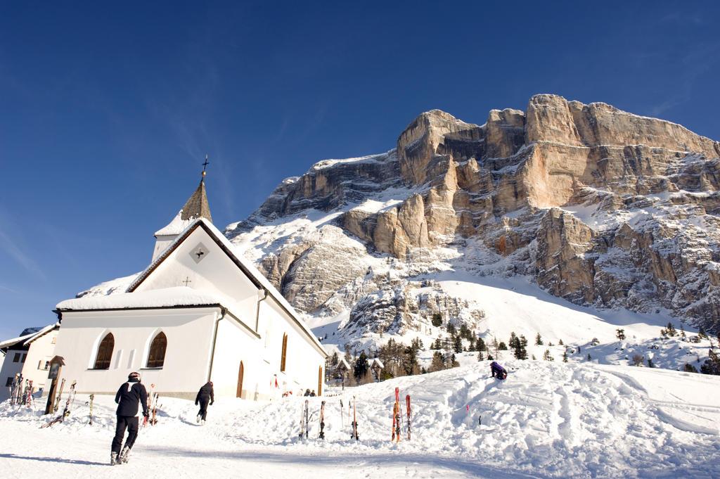 Italy, Alto Adige, Alta Badia, Santa Croce the sanctuary : Stock Photo