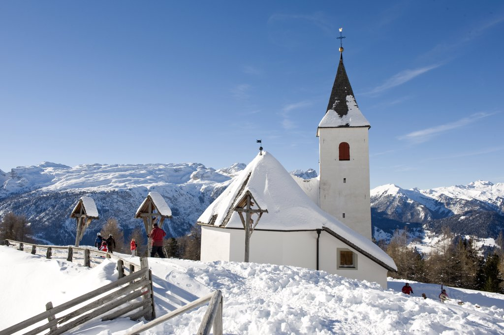 Stock Photo: 4292-64895 Italy, Alto Adige, Alta Badia, Santa Croce the sanctuary