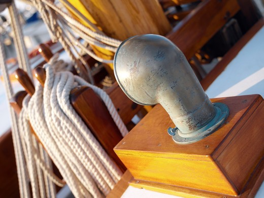 Sailboat's deck : Stock Photo
