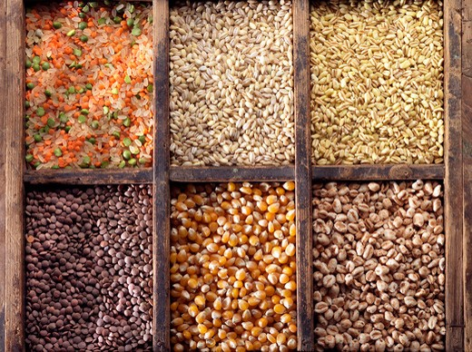 Stock Photo: 4292-67849 Assorted legumes and cereals