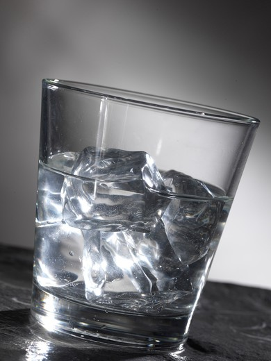 Glass of water with ice : Stock Photo