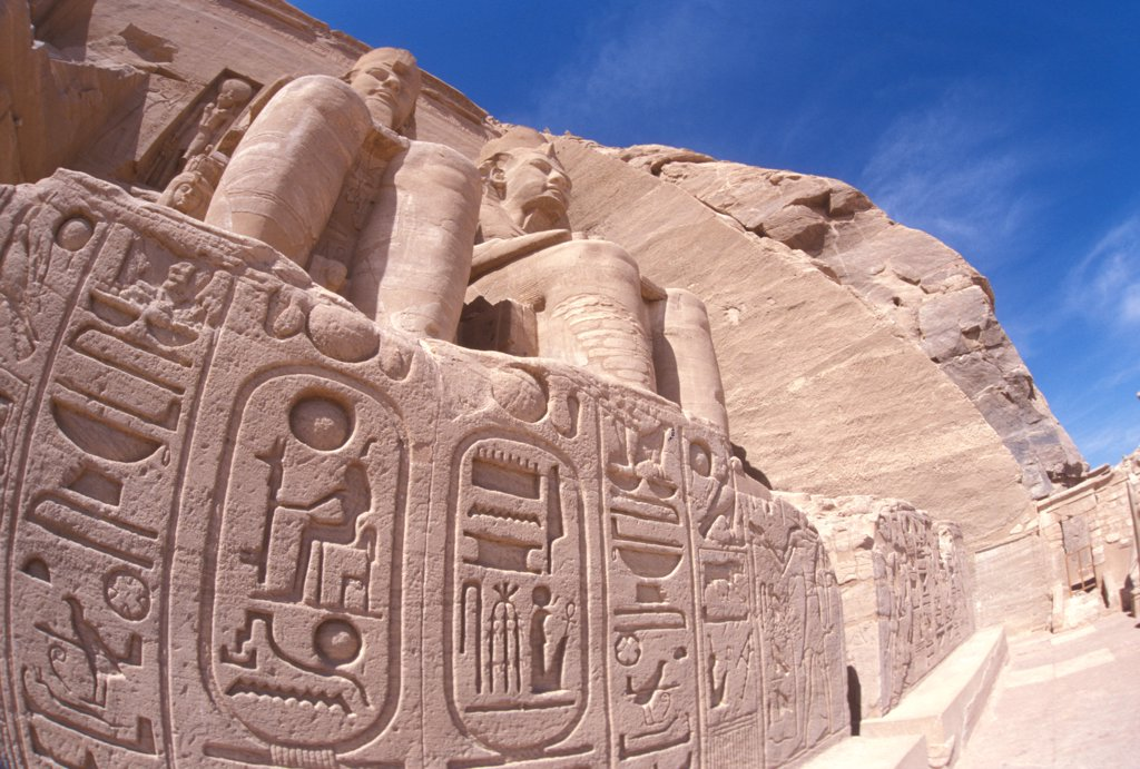 Stock Photo: 4292-69810 Africa, South Egypt, Abu Simbel- Ramses temple