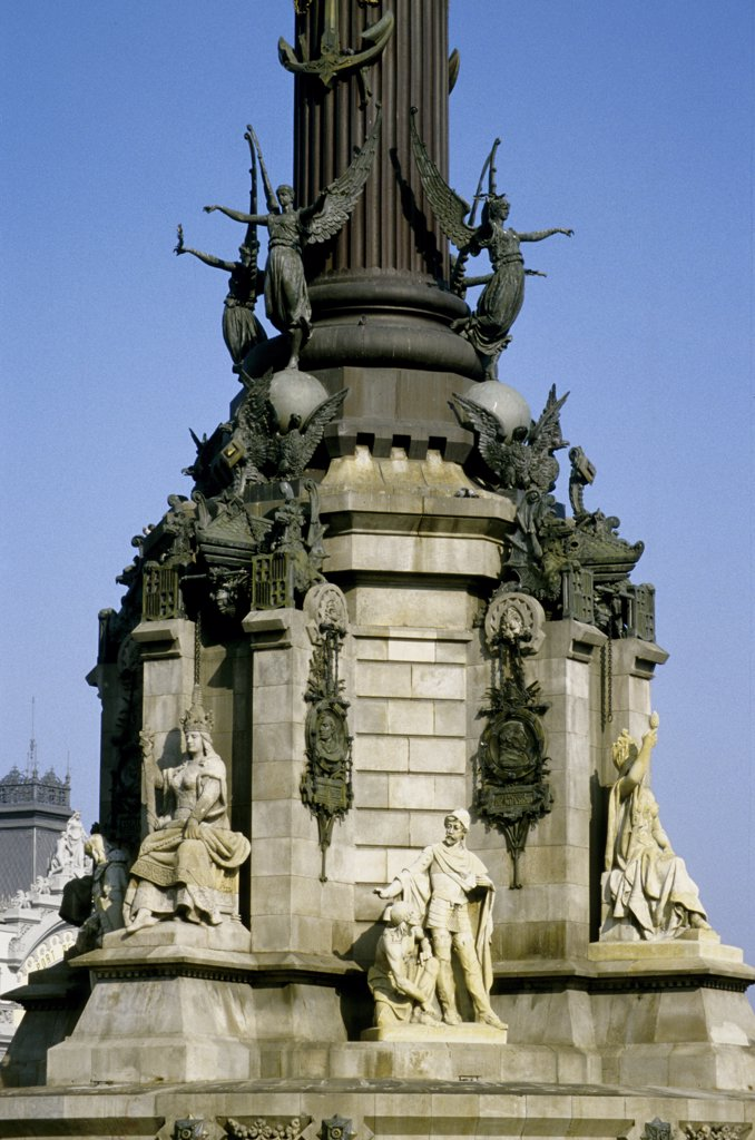 Stock Photo: 4292-69893 Spain, Barcelona, Columbus monument
