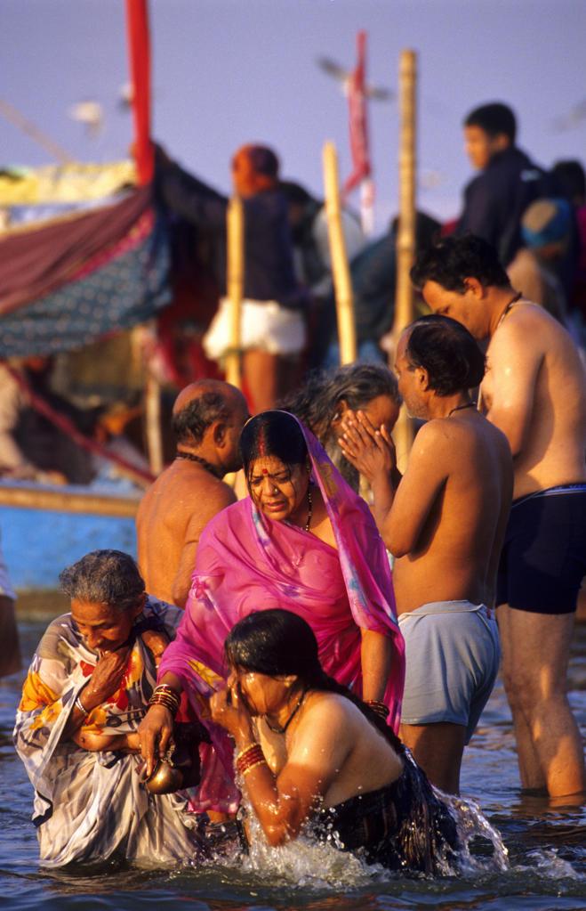 India, Uttar Pradesh, Allahabad (Prayag),Kumbh Mela holy ...