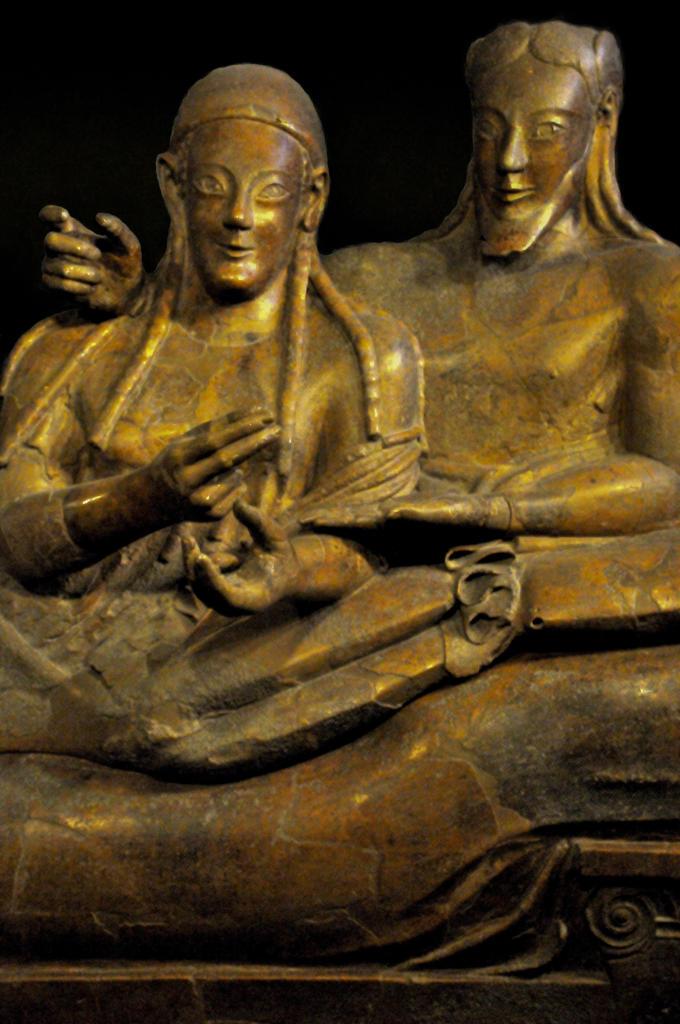 Italy, Lazio, Rome, Villa Giulia, the Etruscan Museum, Etruscan Art. : Stock Photo